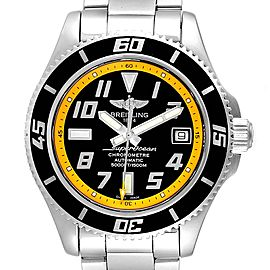 Breitling Superocean 42 Abyss Black Yellow Automatic Mens Watch A17364