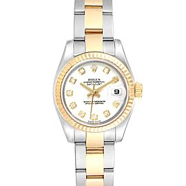 Rolex Datejust Steel Yellow Gold Diamond Ladies Watch 179173 Box Card
