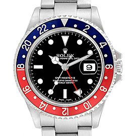 Rolex GMT Master II Blue Red Pepsi Bezel Mens Watch 16710 Box Papers
