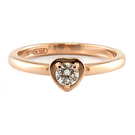 CARTIER 18K Pink Gold Diamond Heart Ring CHAT-315