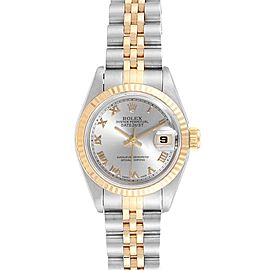 Rolex Datejust Steel Yellow Gold Rhodium Dial Ladies Watch 69173
