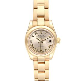 Rolex President Yellow Gold Roman Dial Ladies Watch 179168 Box Papers