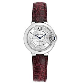 Cartier Ballon Bleu 33 Diamond Steel Ladies Watch W4BB0009