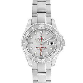 Rolex Yachtmaster 29 Steel Platinum Ladies Watch 169622 Box Card
