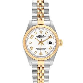 Rolex Datejust Steel Yellow Gold White Dial Ladies Watch 69173