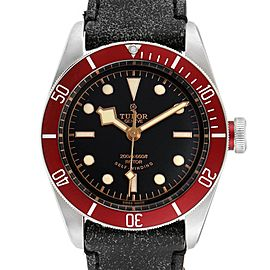 Tudor Heritage Black Bay Steel Leather Strap Watch 79220 Box Papers