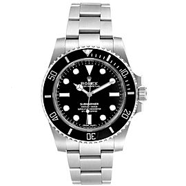 Rolex Submariner 40mm Ceramic Bezel Steel Watch 114060
