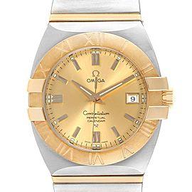 Omega Constellation Perpetual Calendar Steel Yellow Gold Watch 1211.10.00
