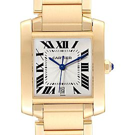 Cartier Tank Francaise Large Yellow Gold Unisex Watch W50001R2 Box Papers