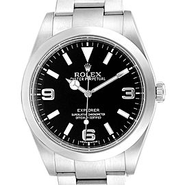 Rolex Explorer I 39mm Black Dial Steel Automatic Mens Watch 214270