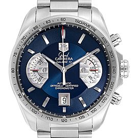Tag Heuer Grand Carrera Blue Dial Limited Edition Mens Watch CAV511F