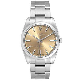 Rolex Oyster Perpetual 34mm White Grape Dial Steel Watch 114200 Unworn