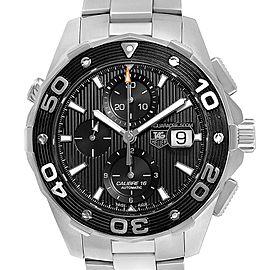 Tag Heuer Aquaracer Black Dial Steel Mens Watch CAJ2110 Card