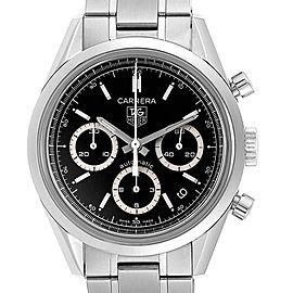 Tag Heuer Carrera Black Dial Chronograph Mens Watch CV2113 Card
