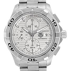 Tag Heuer Aquaracer Silver Dial Chronograph Steel Mens Watch CAP2111
