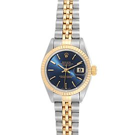 Rolex Datejust Steel Yellow Gold Blue Dial Ladies Watch 79173
