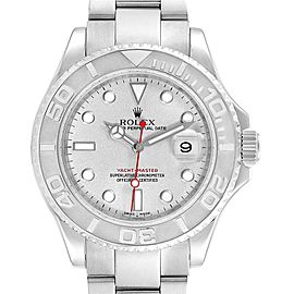 Rolex Yachtmaster 40 Steel Platinum Automatic Mens Watch 16622