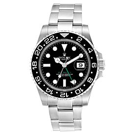 Rolex GMT Master II 40mm Black Dial Green Hand Mens Watch 116710