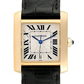 Cartier Tank Francaise Large Yellow Gold Automatic Mens Watch W5000156