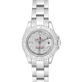 Rolex Yachtmaster 29 Steel Platinum Ladies Watch 169622 Box