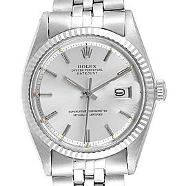 Rolex Datejust Steel White Gold Silver Sigma Dial Vintage Mens Watch 1601
