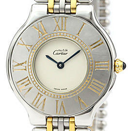 CARTIER Must 21 Gold Plated/Steel Watch HK-2032