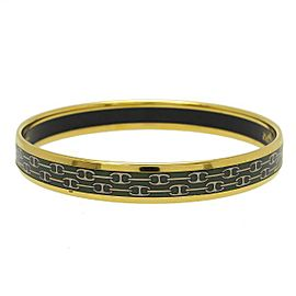 Hermes Gold-Tone Multicolor Bangle Bracelet