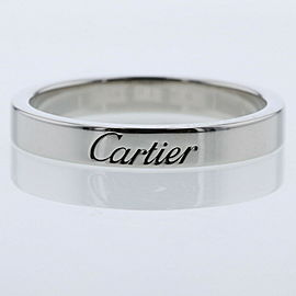 CARTIER Engraved 950 Platinum Ring TBRK-563