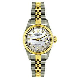 Rolex Datejust Stainless Steel & 18K Yellow Gold Diamond 26mm Watch