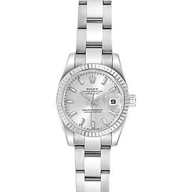 Rolex Datejust 26 Steel White Gold Mother of Pearl Ladies Watch 179174