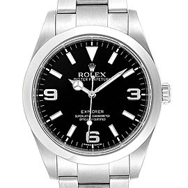 Rolex Explorer I 39mm Black Dial Oyster Bezel Steel Mens Watch 214270