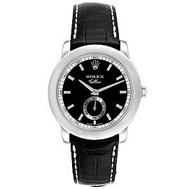 Rolex Cellini Cellinium 35mm Platinum Black Dial Mens Watch 5241