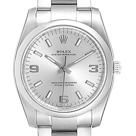 Rolex Air King 34mm Silver Dial Steel Mens Watch 114200 Unworn