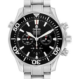Omega Seamaster Chronograph Black Dial Watch 2594.52.00 Box Card