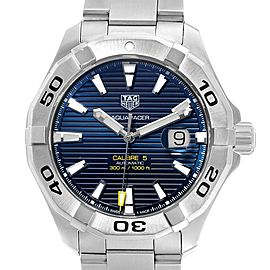 Tag Heuer Aquaracer Blue Dial Steel Mens Watch WAY2012