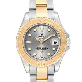 Rolex Yachtmaster 35 Midsize Steel Yellow Gold Slate Dial Watch 168623