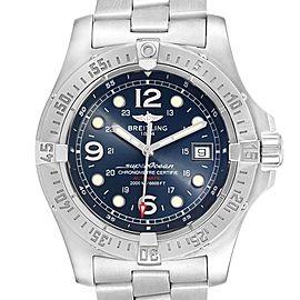 Breitling Aeromarine Superocean Steelfish Blue Dial Mens Watch A17390