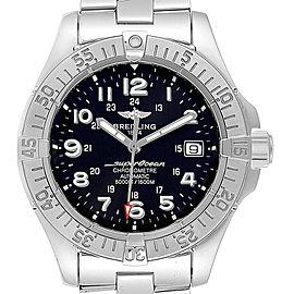 Breitling Superocean Steelfish Black Dial Steel Mens Watch A17360