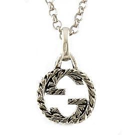 GUCCI 925 Silver Interlocking G Necklace