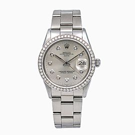Rolex Oyster Perpetual Date 15010 34mm Womens Watch