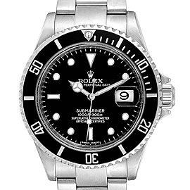 Rolex Submariner Date 40 Stainless Steel Automatic Mens Watch 16610