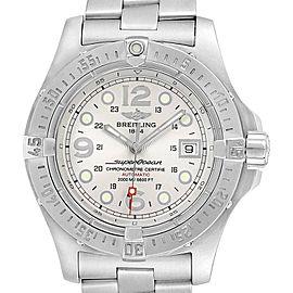 Breitling Aeromarine Superocean Steelfish Silver Dial Mens Watch A17390