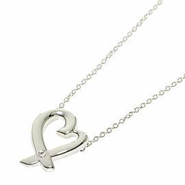 TIFFANY & Co. Silver Loving Heart Diamond Necklace
