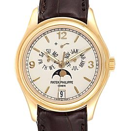 Patek Philippe Complicated Annual Calendar Yellow Gold Mens Watch 5146J