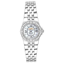 Breitling Starliner 30mm Mother of Pearl Diamond Ladies Watch A71340