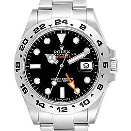 Rolex Explorer II 42 Black Dial Orange Hand Mens Watch 216570