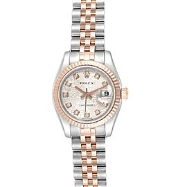 Rolex Datejust 26 Steel EveRose Gold Diamond Ladies Watch 179171