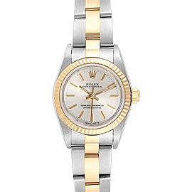 Rolex Oyster Perpetual Steel Yellow Gold Ladies Watch 76193 Box Papers