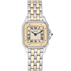Cartier Panthere Steel Yellow Gold 2 Row Small Ladies Watch W25029B6