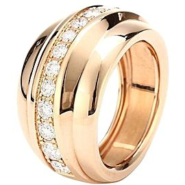 Chopard 829399-5110 18K Rose Gold Diamonds Ring Size 6.75